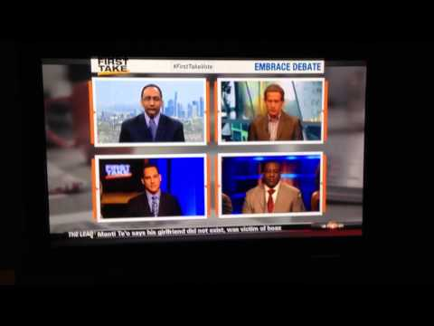 Stephen A. Smith Goes Off On The Manti Te