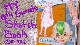 9TH GRADE SKETCHBOOK | Sketchbook Tour 3 | 2010-2012
