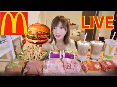 【MUKBANG】 Kinoshita Yuka's Social Eating LIVE [McDonald's] Gran Club House Burger..etc [NO CAPTION]
