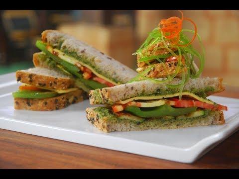 Pesto Sandwich With Grilled Vegetables | Cooksmart | Sanjeev Kapoor Khazana