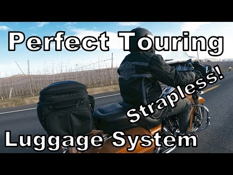 Rickrak-Best Quick Detach Strapless Luggage System for Harley & Indian Motorcycles-How to Install