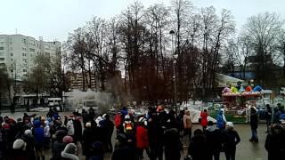пожар автолавки на масленицу в Тюмени 13.03.2016г