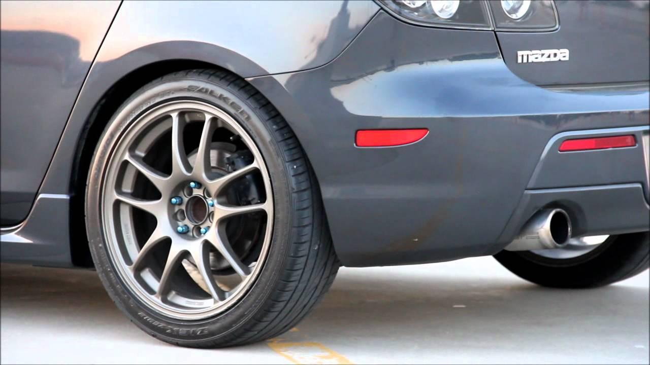 Mazda 3 racing beat exhaust + fujita intake - YouTube