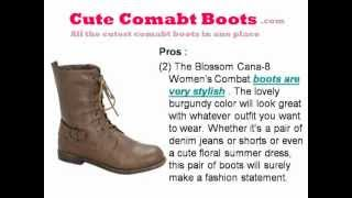 Blossom Cana 8 Womens Combat Style Mid Calf Boots