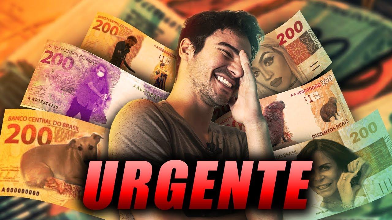 ***URGENTE*** NOVA NOTA DE 200 REAIS