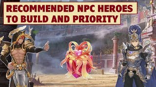 King's Raid - Recommended NPC Heroes to Build and Priority Sequence