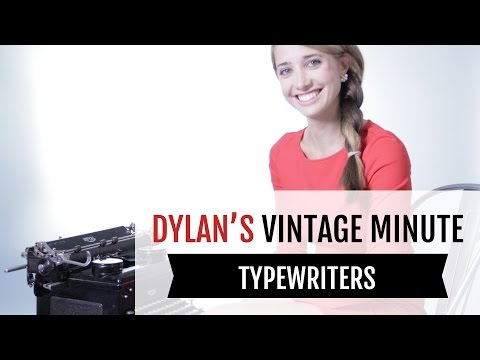 Antique Typewriters: More Than Your Basic QWERTY