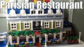 Combining Two Lego Modular Buildings - Parisian Restaurant Expanded – 10243