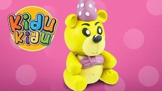 Learn How To Make Delghtful Teddy Bear | Play Dough Modelling Creative DIY Fun for Kidu Kidu Kids