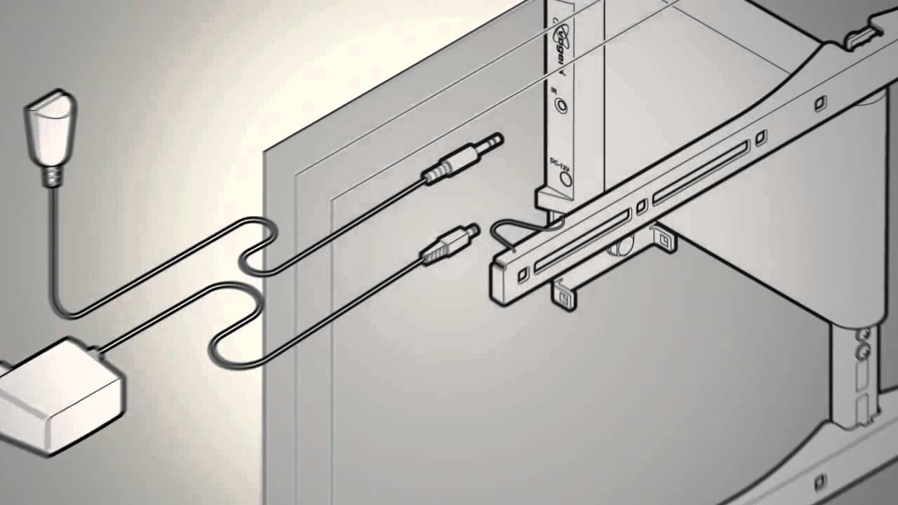 installatie video thin rc 355 elektrische tv muurbeugel. Black Bedroom Furniture Sets. Home Design Ideas