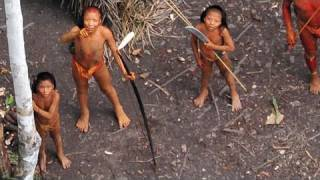 Repeat youtube video Uncontacted Amazon Tribe: First ever aerial footage
