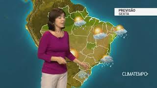 Previsão Brasil – Litoral do Sudeste com chuva