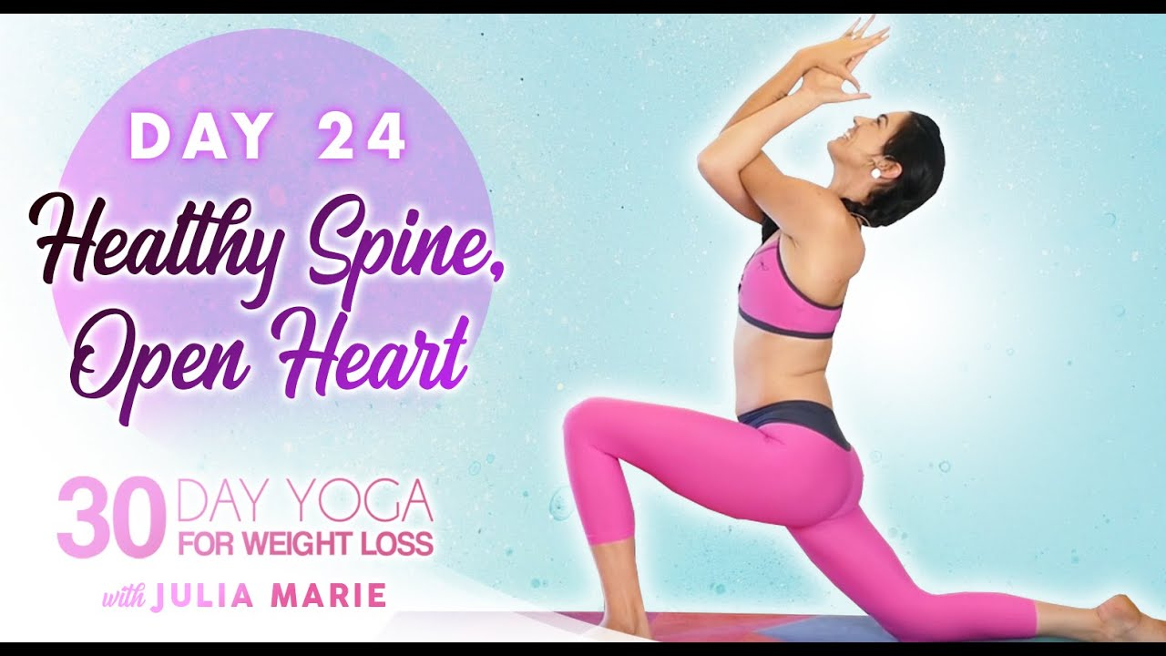 Heart Openers to Improve Posture & Reduce Shoulder Pain ♥ 30 Day Yoga Challenge | Day 24