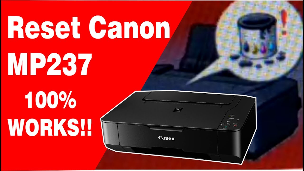 Reset Canon Mp237 How To Fix Canon Mp237 Error 5b00 Youtube