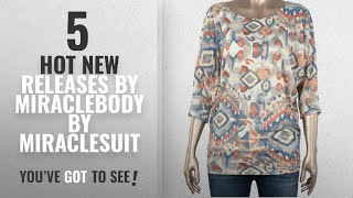 Hot New Miraclebody By Miraclesuit Women Clothing [2018]: Winnie Majestic Tile Wedge Tee Rust S