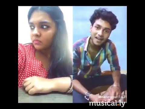 Navya nair prithvi raj vellithira movie scene dubsmash, musical.ly