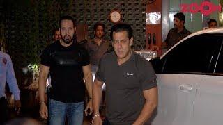 Salman Khan's Grand Entry At Arpita-Aayush's Eid Party