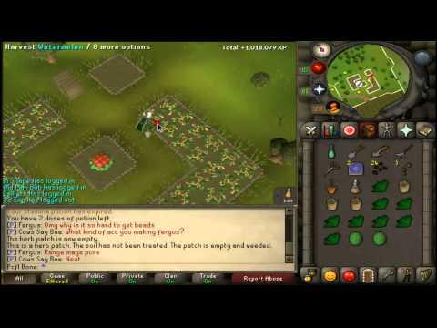 RuneScape 2007 - Best 10HP 99 Farming Guide w/ Tips & Tricks