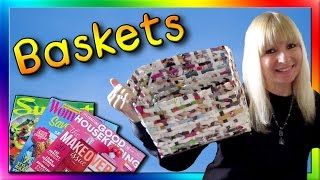 How To Make Baskets Out of Magazines
