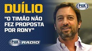RONY, NEYMAR E CAVANI; Duílio Monteiro, diretor do Corinthians, abre o jogo em entrevista exclusiva