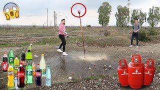 COCA-COLA vs GAZ! 🔥 *Experiment*  (12 arome de suc)