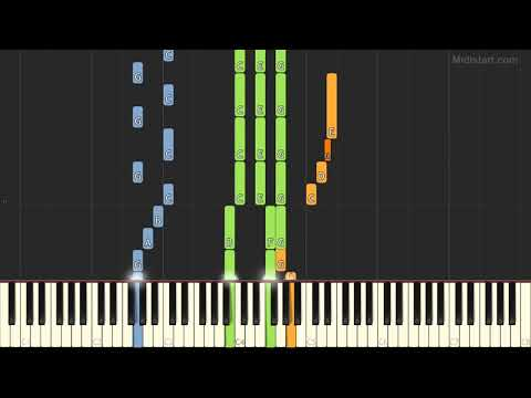 The Grateful Dead - Casey Jones (Piano Tutorial) [Synthesia]