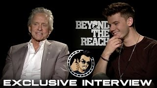 Michael Douglas and Jeremy Irvine Interview - Beyond The Reach (HD) 2015