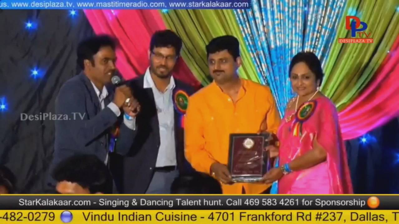 Parthu Nemani being Felicitated at Telugu Cultural Association Houston - Convention 2016
