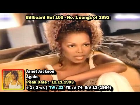 Billboard Hot 100 #2 Singles 1990 -1994 Chart Sweep   Youtube Music Lyrics