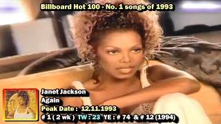 Billboard Hot 100 - No. 1 Songs of 1993 [1080p HD]