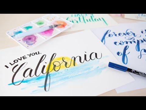 Lettering Demo - I Love You, California!