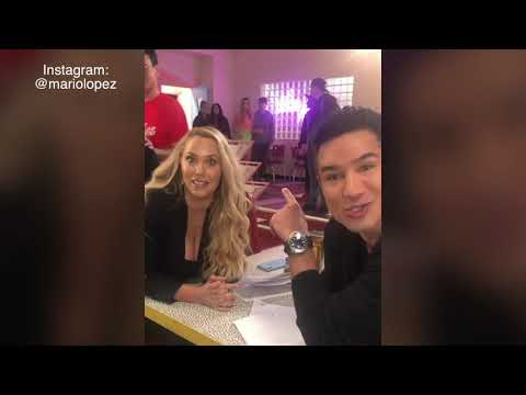Mario Lopez Reunites With Saved By The Bell Cast Member On The