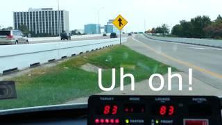 Running radar on a busy highway