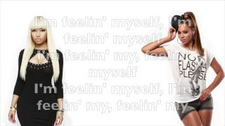 Repeat youtube video Nicki Minaj - Feeling Myself ft. Beyoncé lyrics (explicit)