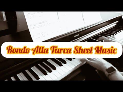 """Rondo Alla Turca sheet music """"Piano Sonata No. 11"""" Mozart in PDF"""