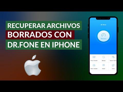 Cómo Recuperar Archivos, Fotos y Videos Borrados con Dr.fone en iPhone iOS