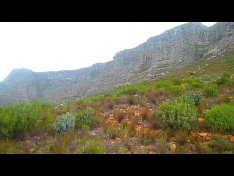Table Mountain 360 degree ascend with cable car at Cape Town, South Africa