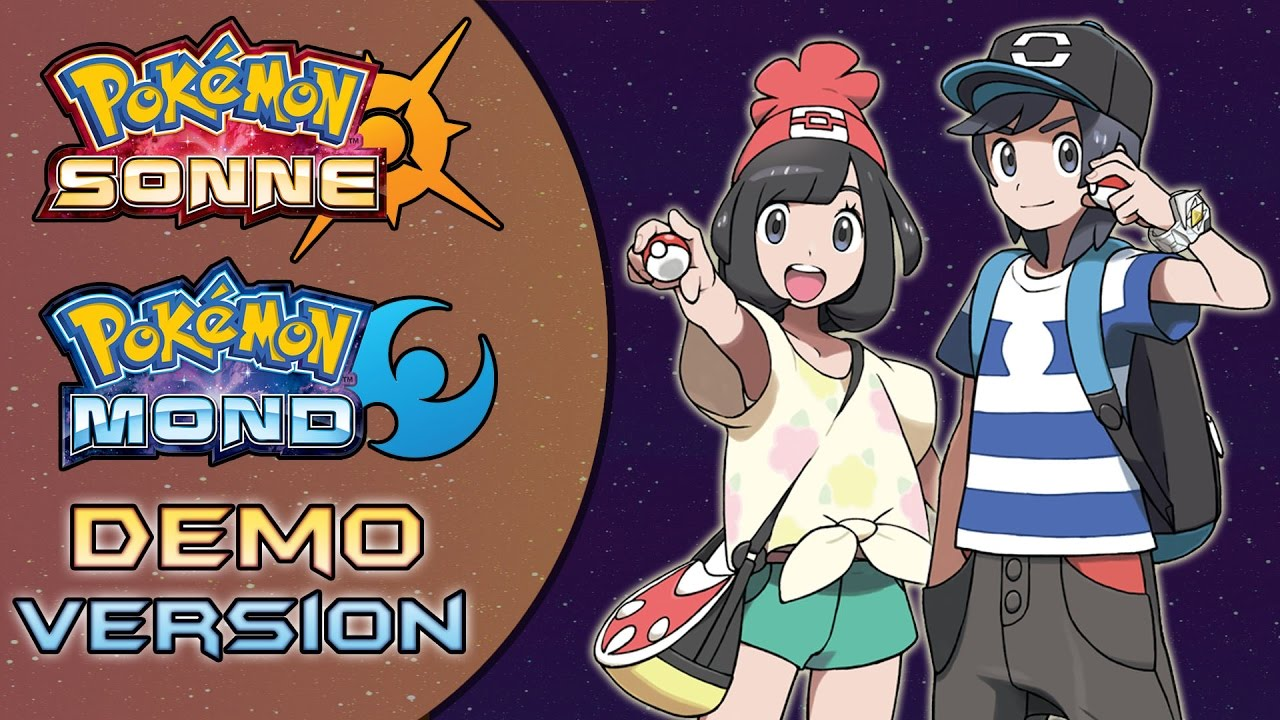 Pokemon Sonne Mond Demo
