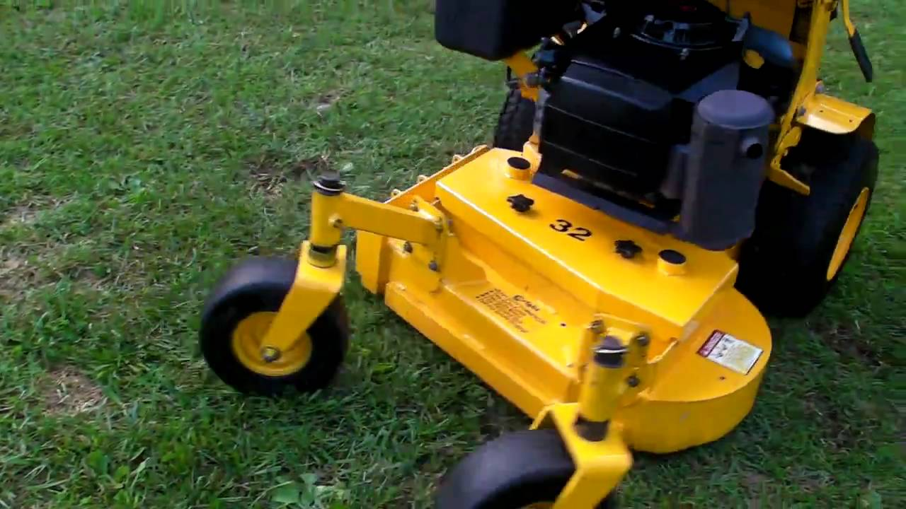 Wright 32 Stander Rider Czts 17hp Kaw Youtube