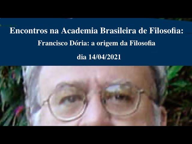 Francisco Dória: as origens da Filosofia