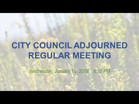 Malibu City Council Meeting January 10, 2018