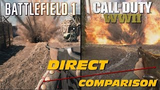 Battlefield 1 vs Call of Duty: WWII   Direct Comparison