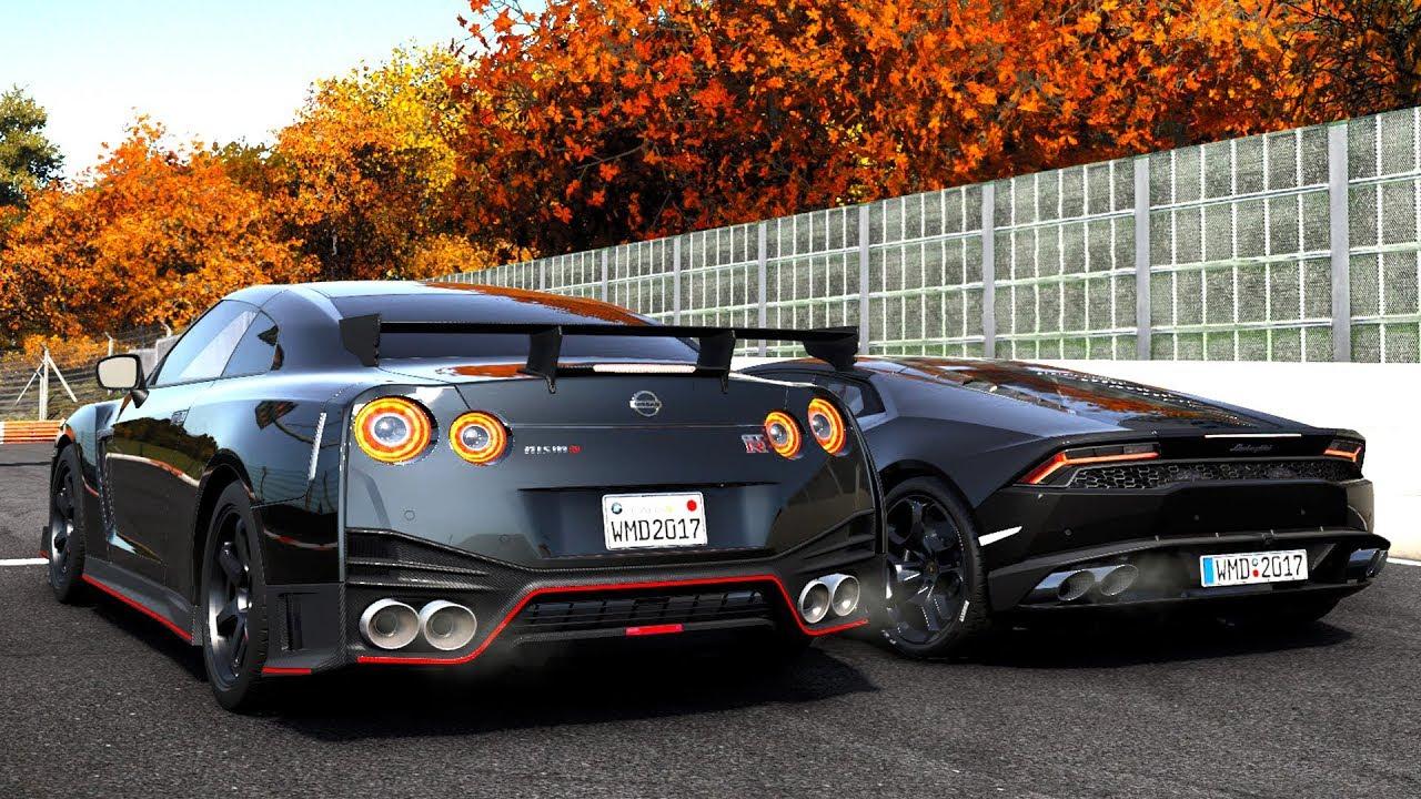 Nissan Skyline Gtr 2017 >> Project Cars 2 - Nissan GT-R vs Lamborghini Huracán (G27 mod) - YouTube
