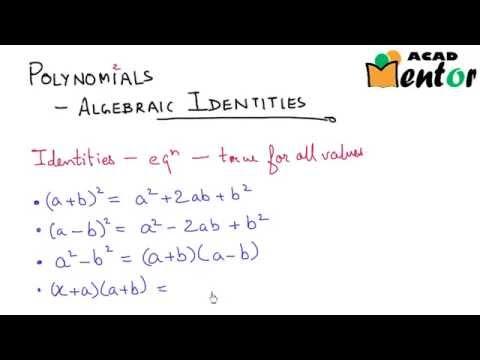 9. 2. 12 algebraic identities part 1 polynomials class 9 cbse.