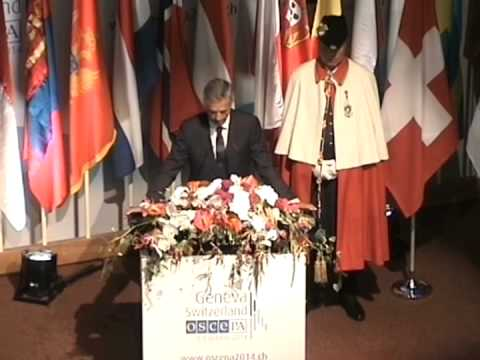 Address by the OSCE Chairperson-in-Office and Swiss Foreign Minister, Mr. Didier Burkhalter