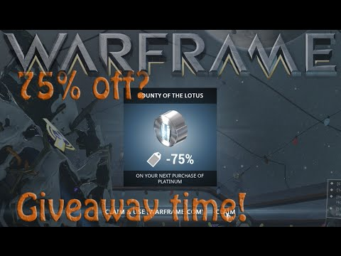Warframe - 75% off is Real? Hunhow Giveaway Now Ended!