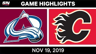 NHL Highlights   Avalanche vs. Flames – Nov. 19, 2019