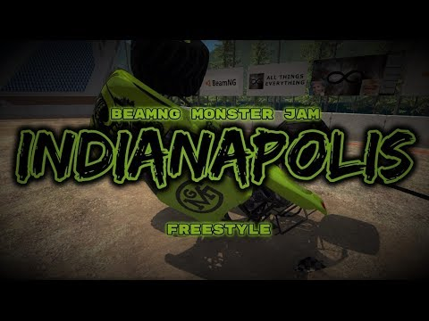 BeamNG Monster Jam - Indianapolis (8 Truck Freestyle)