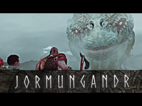 God of War - The Story of the World Serpent // All Jormungandr Scenes