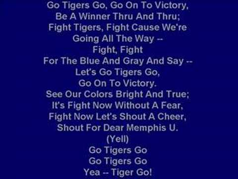 "University of Memphis Fight Song - ""Go Tigers Go"""